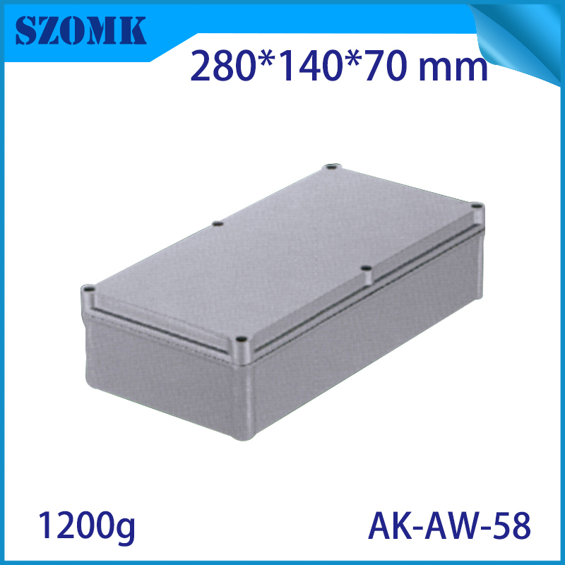 Die Cast Extruded Aluminum Enclosures PCB Instrument Electronic Project Box Aluminum Waterproof Distribution Case 280X140X70MM black extruded aluminum enclosures pcb instrument electronic project box case 100x76x35mm