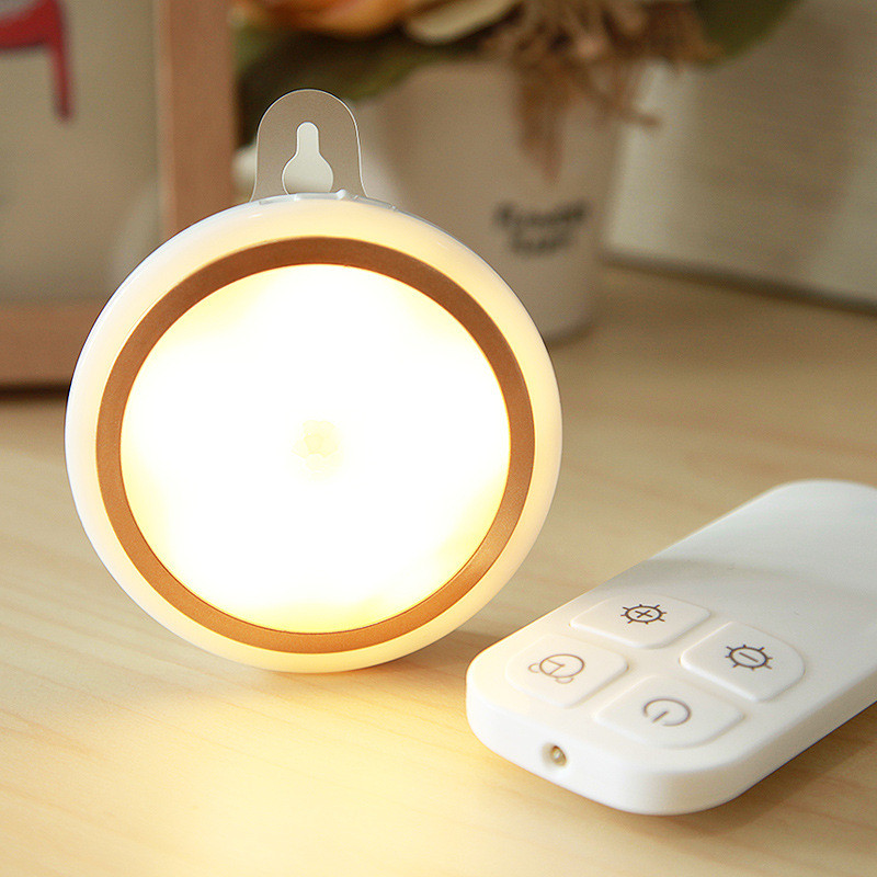 Creative wireless LED night light wardrobe light convenient dimmable IR remote cabinet Emergency light for corridor Staircase
