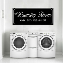 Delicate laundry room Vinyl Wall Stickers Removable Wallpaper For Laundry Room Decor Decal Commercial Murals