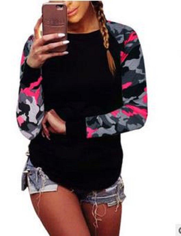 T Shirt Women 2017 Ladies Women's Camouflage Army Long