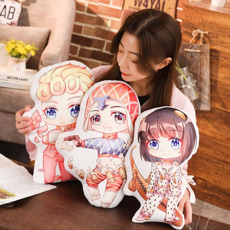 Anime Jojos Bizarre aventure 50 cm dessin animé mousse peluche poupées coussin oreiller jouets cadeau pour enfants #988