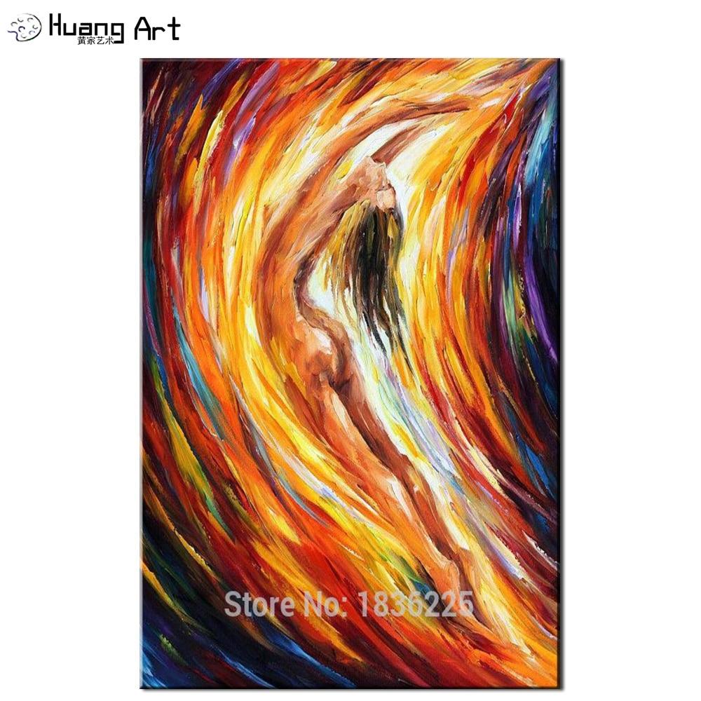100 Handmade Abstract Nude Women Portrait Canvas Art -4852