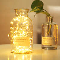 Waterproof 2M 5M LED Fairy Garland Night Light fixtures bedside lamp Christmas Wedding Decoration by CR2032 Battery-Powered