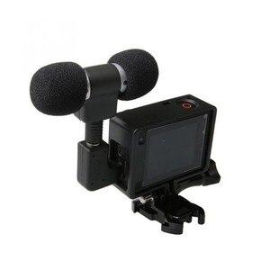 Image 1 - Mini Microphone stéréo pour Gopro Hero 4 3 accessoires monture de boîtier de protection pour caméra daction Go Pro 3.5Mm pas de bruit micro