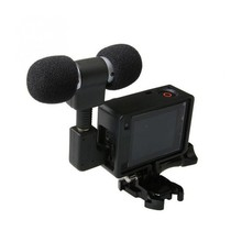 Mini Stereo Microphone For Gopro Hero 4 3 Accessories Protective Frame Case Mount For Go Pro Action Camera 3.5Mm No Noise Mic