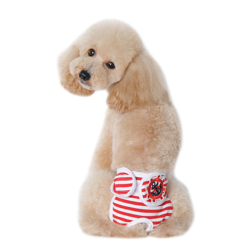 Cute Strips pattern Pet Dog Panty In Season Sanitary Pants Female Girl Puppy doggy Physiological Panty dog supply on sale