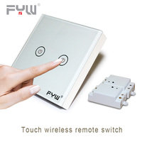 Smart Home House Luxury Crystal Glass Wall Switch Touch Switch Normal Domestic Switch Wireless Remote Control