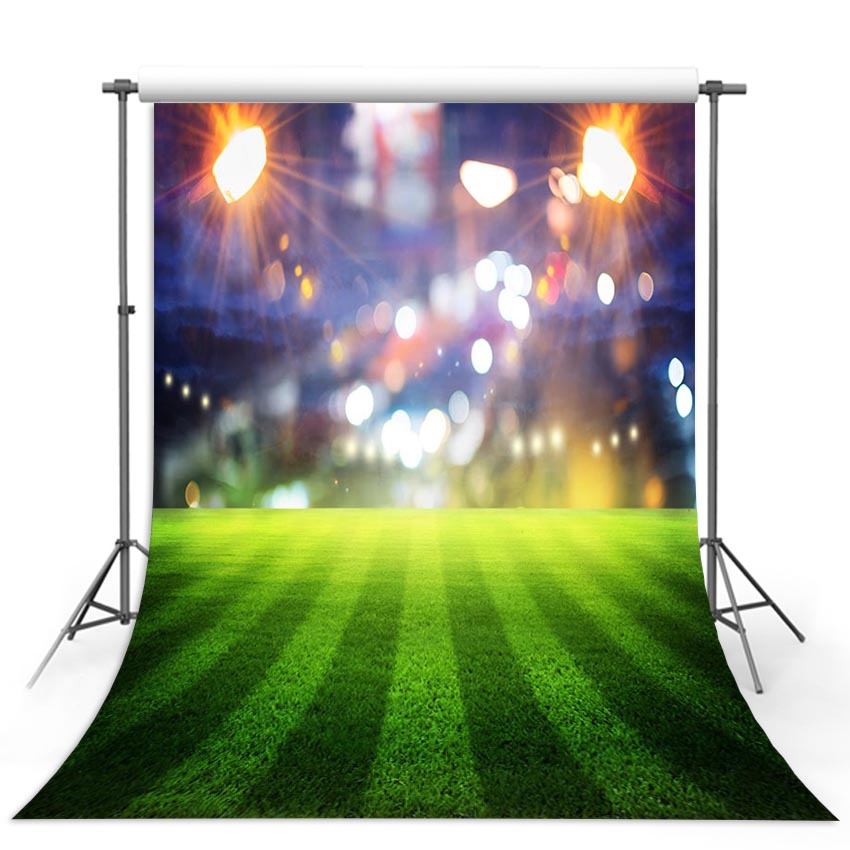 Vinyl Photography Background Football Field Soccer Match Theme Party Sport Children Fotografia Backgrounds for Photo Studio