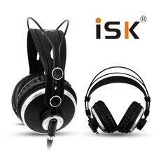 צג אוזניות מותג מקורי ISK HP 980 מקצועי סטודיו DJ אוזניות 3D סראונד סטריאו אוזניות Hifi אוזניות