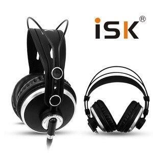 Image 1 - צג אוזניות מותג מקורי ISK HP 980 מקצועי סטודיו DJ אוזניות 3D סראונד סטריאו אוזניות Hifi אוזניות