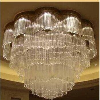 L LED מלון קריסטל אור גדול הנדסת קריסטל מנורות מלון תאורת אולם מלון לובי אור KTV אור מועדון led מנורה