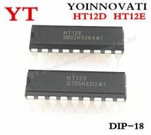 50pcs/lot 25PCS HT12D and 25PCS HT12E DIP18 HT 12D+HT 12E Best quality