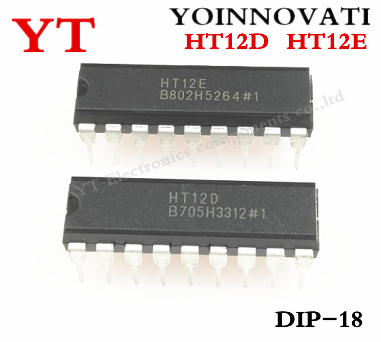 50PCS HT12D DIP Holtek remote control IC NEW HIGH QUALITY