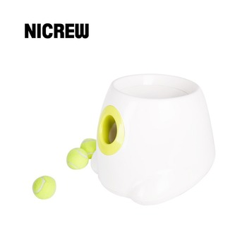 Nicrew Dog Pet Toys Tennis Launcher Automatic Throwing Machine Dog Pet Ball Throwing Device 3/6/9m Section Emission With 3 Balls