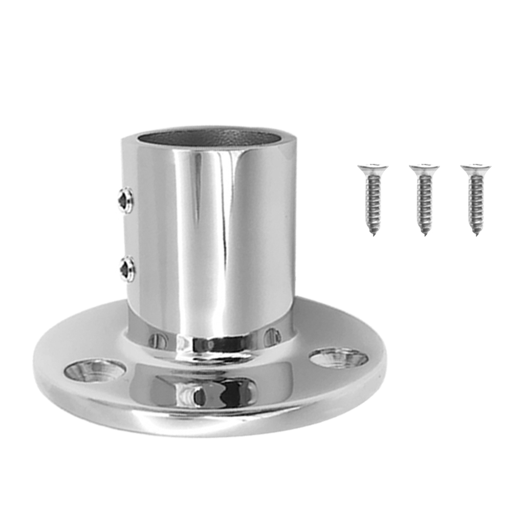 Image 2 - 1 Set 25mm /1″ 90 Degree Round Stanchion Base 316 Stainless Steel Boat Hand Rail Fitting For Sailboat & Powerboat Railing Etc-in Marine Hardware from Automobiles & Motorcycles