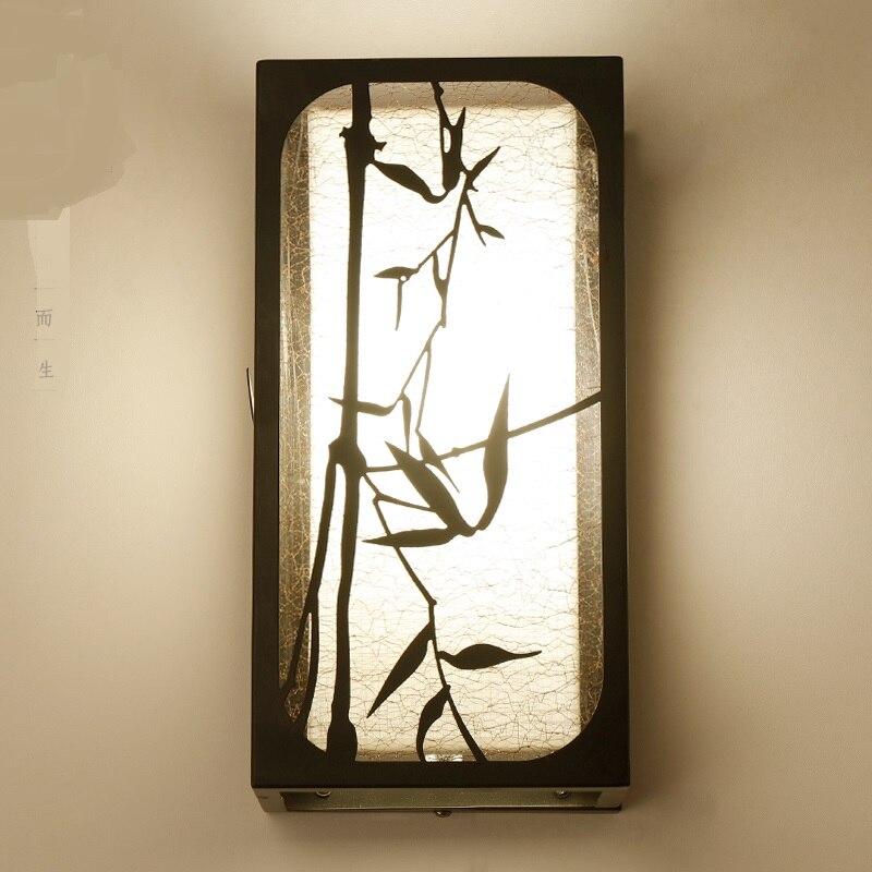 Китайский стиль бра современной гостиной спальня ночники бра коридорах ветер Творческий настенные светильники za8817