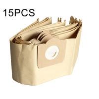 15 Pcs Kağıt toz filtre torbası KARCHER Için Set MV3 WD 3.000 WD 3.999 Vakum Temizleyici|Çöp Torbaları|Ev ve Bahçe -