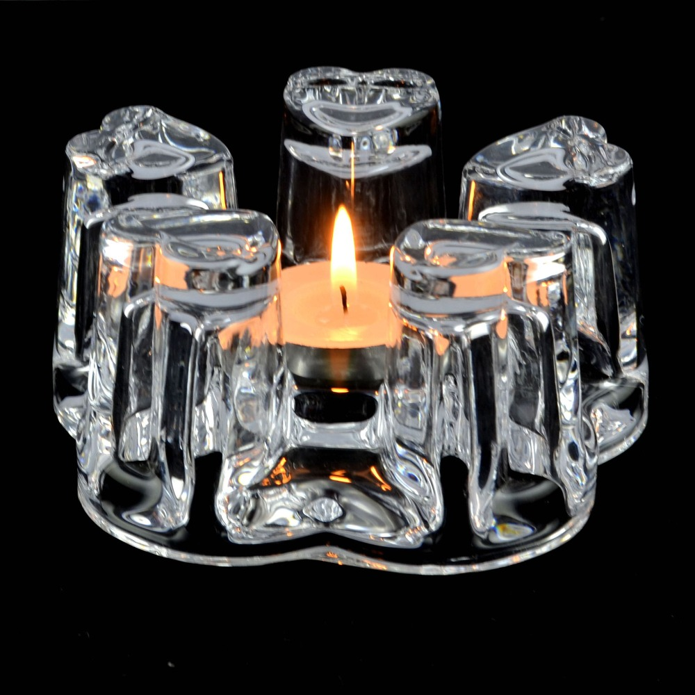 1x Heat-Resisting Glass Crystal Regular Pentagon Teapot Coffee Water Tea Pot Warmer Heater