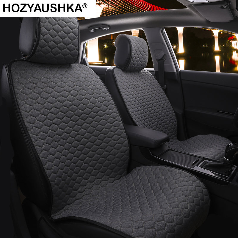5 kits Car seat cover Four seasons universal linen cushion cover Bundleless car seat cover Car