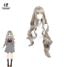 ROLECOS DARLING in the FRANXX Cosplay Headwear KOKORO 556 Cosplay Synthetic Hair 90cm Curly Gray Long Synthetic Hair for Women