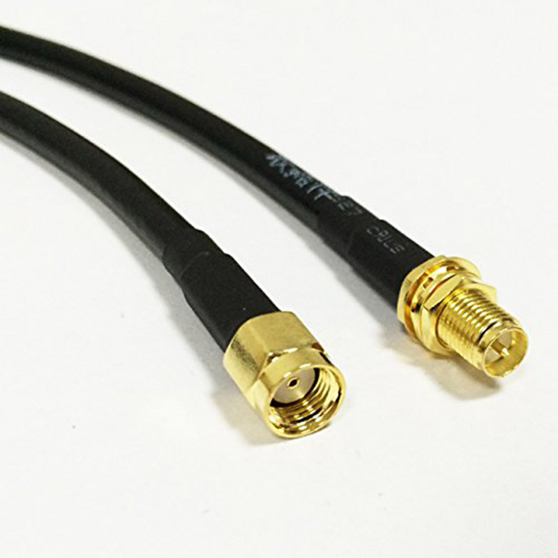 ALLISHOP RG58 RP-SMA Male to RP-SMA Female Connector WIFI 3M External Extension Cable Free shipping