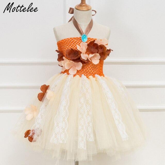 90ea806c5 Mottelee Girls Flower Dress Summer Baby Tutu Moana Dresses Princess ...