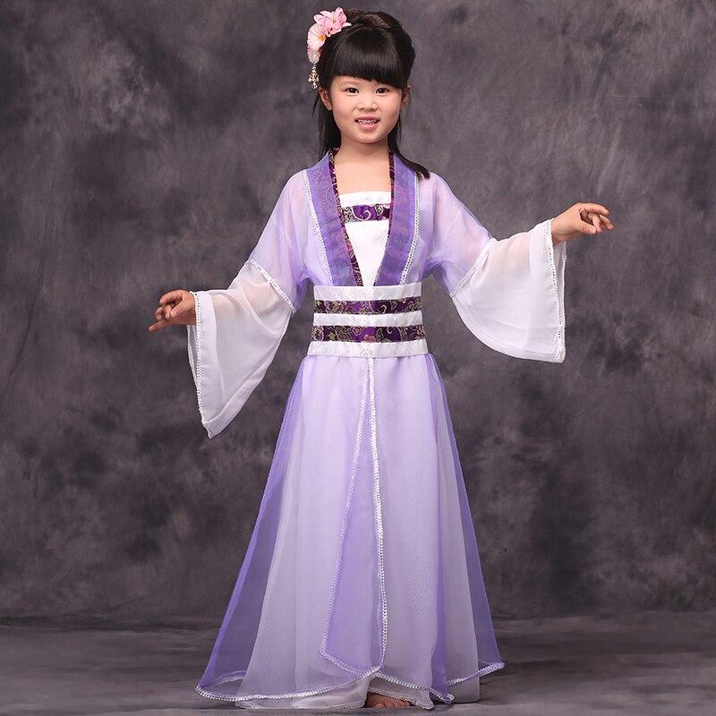 Ropa tradicional china para niña Guzheng práctica hada princesa - Novedad