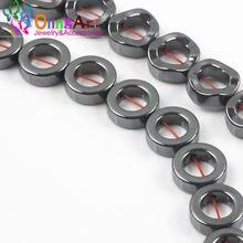 Olingart 4/5*12 мм 30 шт/лот бусины из натурального камня черного