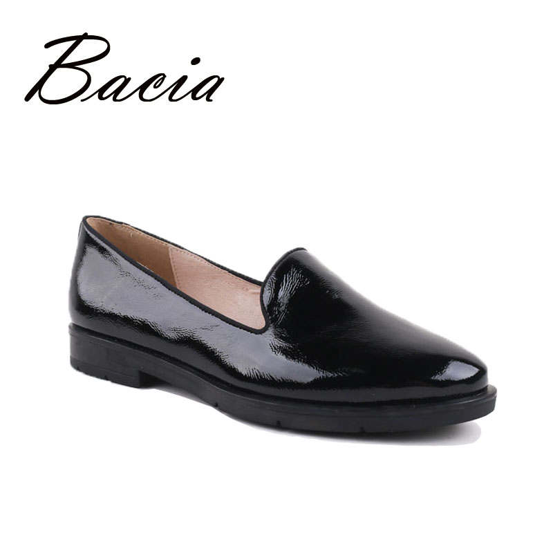 Bacia Brief Style Loafers Women Fashion Leather Flat Shoes Spring Summer Handmade Soft Flats High Quality Casual Shoes VC016 asds 2017 new fashion high quality vintage women flat shoes women flats and women s spring summer autumn shoes