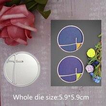 Metal steel 2019 lace circle DIY Cutting Dies Scrapbooking Card Album Embossing Cut Craft Template 5.9*5.9cm