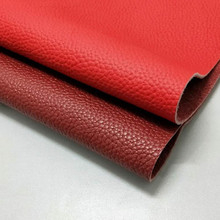 First layer cowhide handmade diy leather cloth wine red fabric