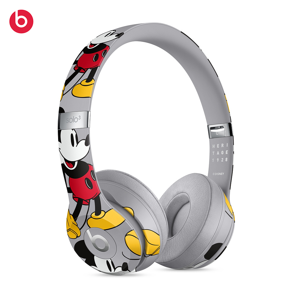 Beats Solo3 Wireless Bluetooth Headphones with 3 5 mm Cable Fast SUB Charge Anti Noise Mickey