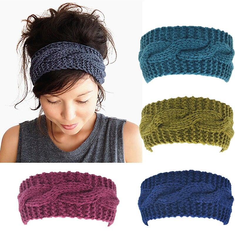 Однотонные повязки на голову для женщин, тюрбан, повязки для волос, зимние теплые повязки на голову, вечерние аксессуары для волос, эластичная резинка на меху