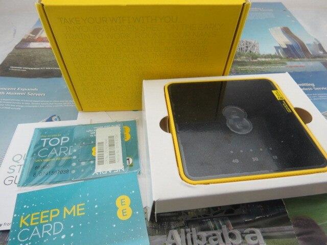 New   Unlocked EE Alcatel Y854 4G Mobile Broadband WiFi Black/Yellow FDD800/1800/2600MHZ 3G UMTS PK Y855 Y800