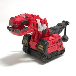 Красный грузовик-динозавр RUX, съемный игрушечный динозавр, детские подарки, Игрушечная модель динозавра, для мини-моделей Dinotrux, новая, 1:64 пла...
