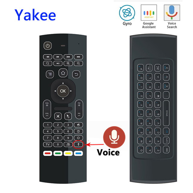 297429b5dfd MX3 Voice Remote Control 2.4G Air Mouse Wireless Keyboard For X96 T9 X96  Max Android
