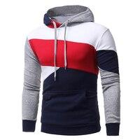 2017 Men S Sweatshirt Hoodies Hip Hop Hoodies Male Brand Hoodies Color Striped Patchwork Men Slim
