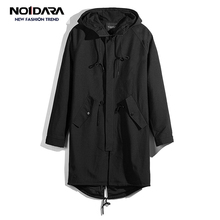 NO.1 DARA brand new long trench coat men clothing high Quality male black green trench coat 2018 Overcoat casaco masculino turn down collar medium long loose trench coat men overcoat long sleeve mens clothing fashion outerwear casaco masculino black