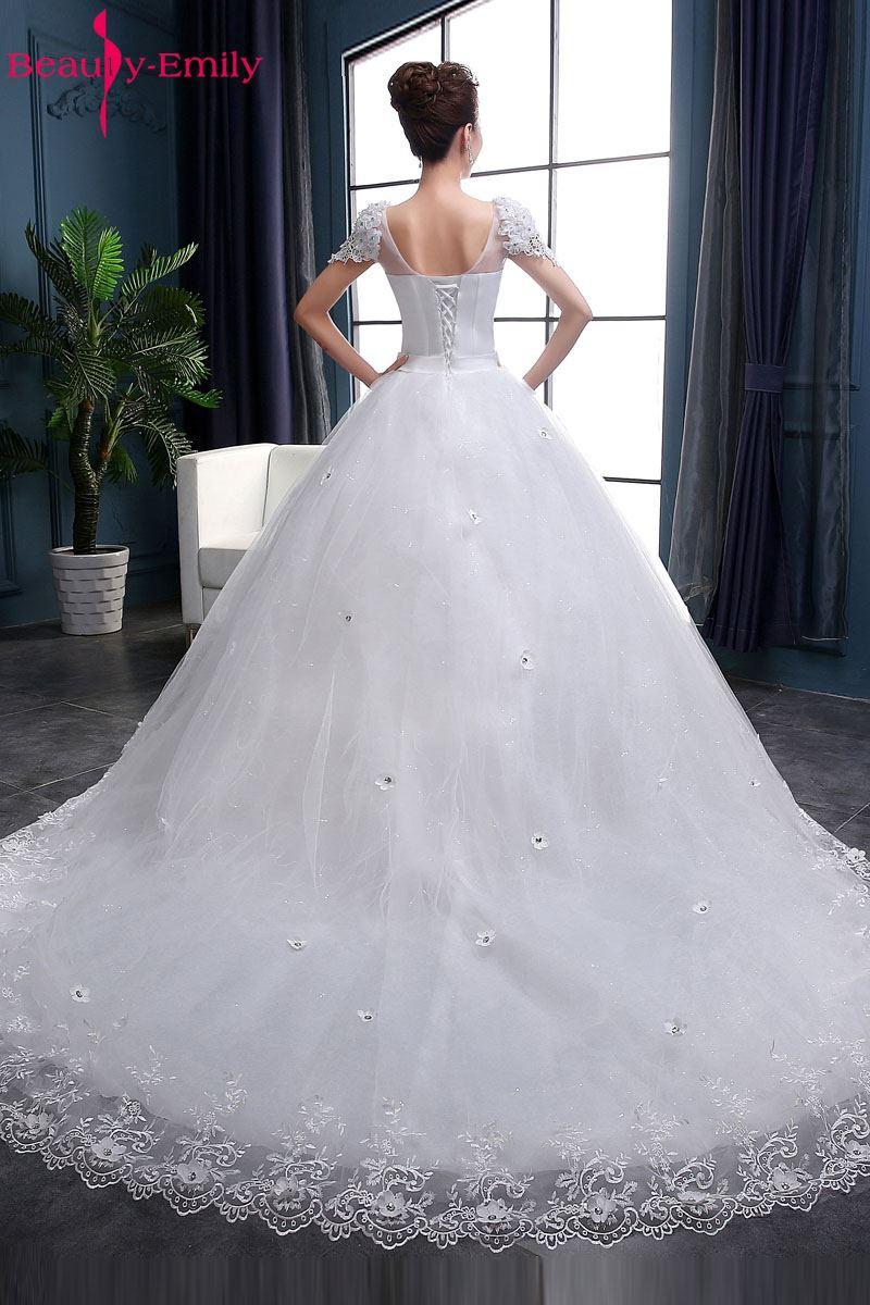 Ομορφιά-Emily Λευκό νυφικά 2018 Μπάλες - Γαμήλια φορέματα - Φωτογραφία 4
