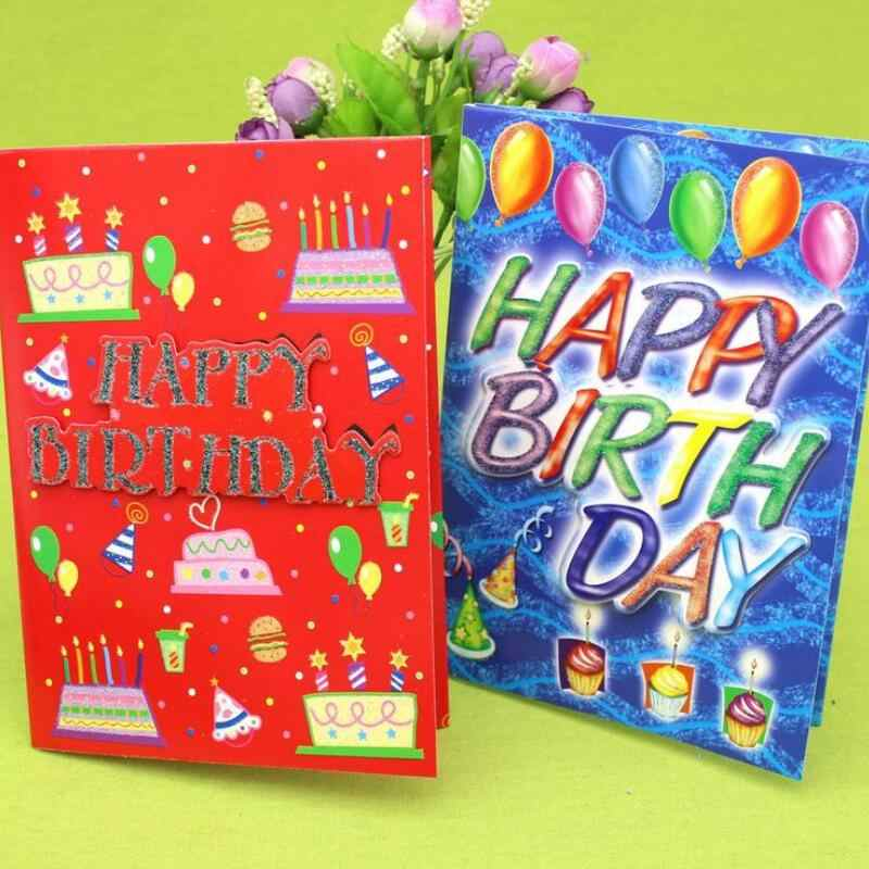 Terrific 10 Pcs Lot Happy Birthday Music Greeting Card Handmade Children Personalised Birthday Cards Cominlily Jamesorg