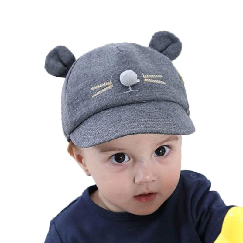 Unisex Soft Brim Baseball Cap Kids Cat Design Cotton Casquette Ear Hat M4259 One Size Adjustable Baseball Cap Child Caps