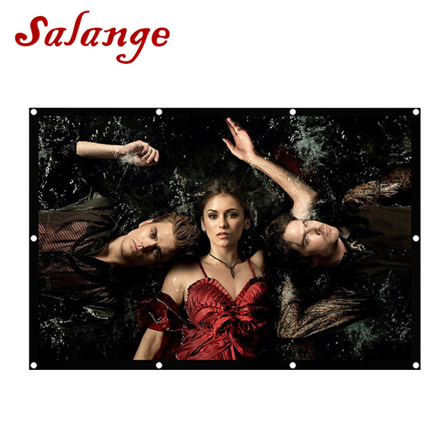 Salange 100 inch Portable Projector Screen 16:9 Plastic Screen For Projector Home Theater Travel LED DLP Proyector