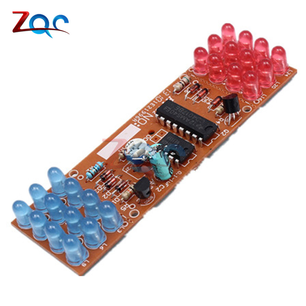 NE555 + CD4017 Red Blue Double Color Flashing Lights Board Kit StrobePractice Learning DIY Kits Electronic Suite Module