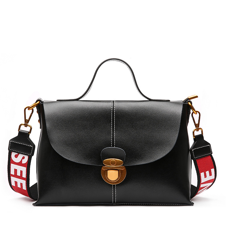 100% cow leather shoulder bag fashion top grade Messenger Bag brand 2018 women genuine leather bag Two kinds of shoulder straps