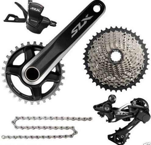 <font><b>SHIMANO</b></font> <font><b>SLX</b></font> <font><b>M7000</b></font> 1x11S 11S Speed <font><b>Groupset</b></font> and Hydraulic Disc Brake for MTB Mountain Bike image