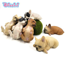 Cute Simulation Farm poultry Small Dog Puppy animals model figure figurine plastic statue home decor Gift For Children Kids toys(China)