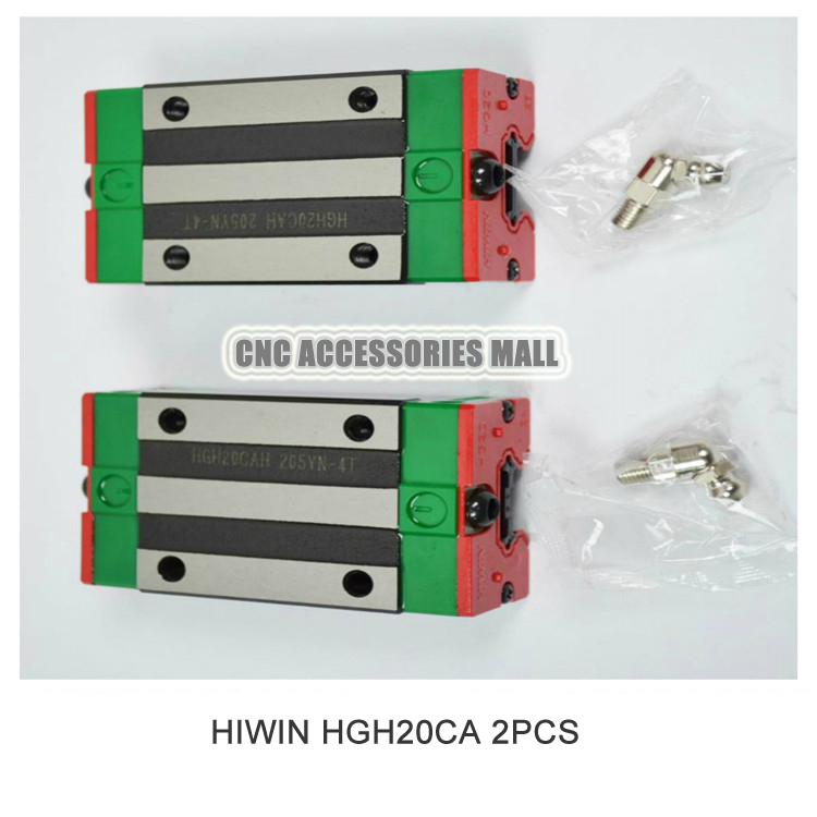 Original 2pcs/lot HIWIN Linear rail carriage HGH20CA match with HGR20 Guideway toothed belt drive motorized stepper motor precision guide rail manufacturer guideway