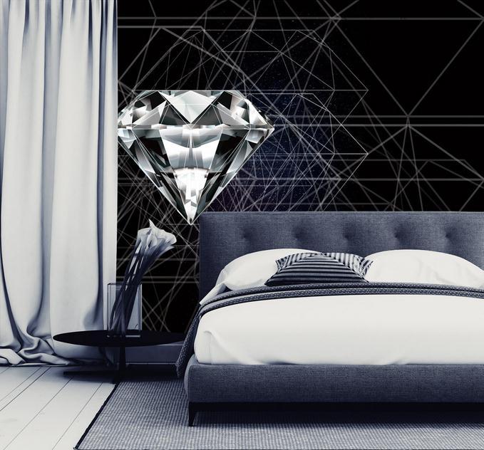 Desktop Abstract Wallpaper For Walls Home Decor Modern Living Room Background Wall Murals Bedroom Diamond Wallpaper Wall Mural