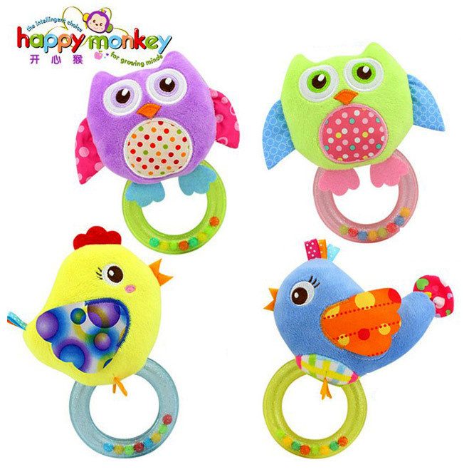 new arrive baby toys 0-12 months with BB bell early teaching toy apron hand ringing bell newbron educational gift BF38