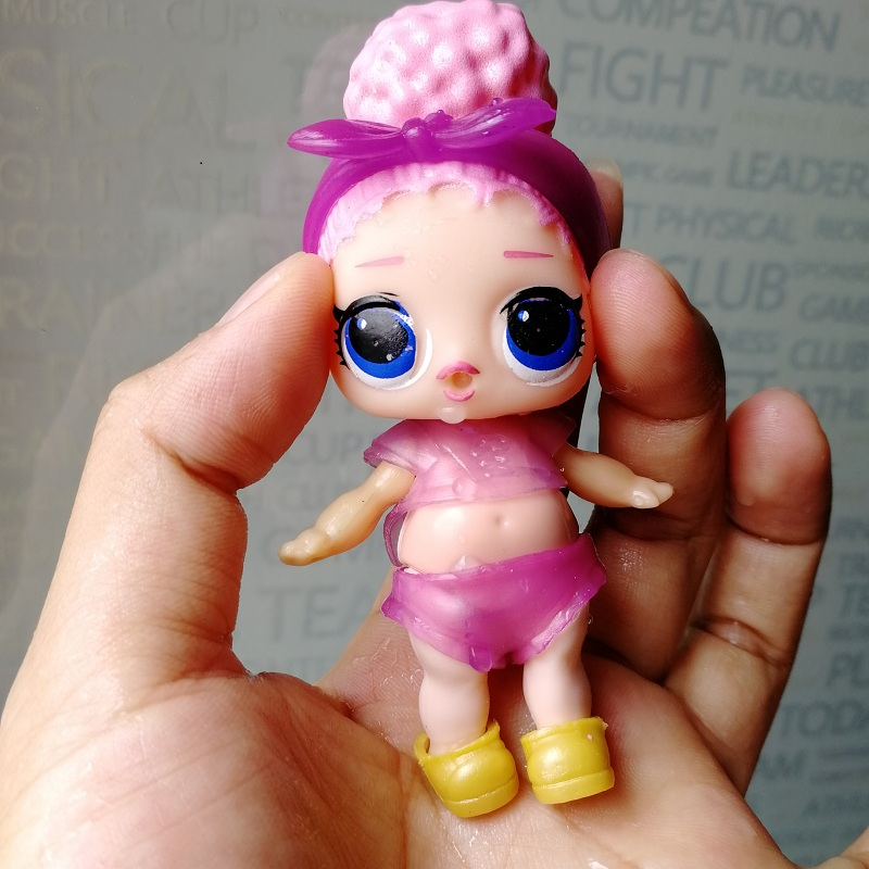 Random 1pcs 9cm LOL Dolls Boneca Little Toys Dress Drink Water Glitter Baby Doll Anime B ...
